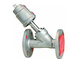 Flange Angle Seat Valve SS Actuator